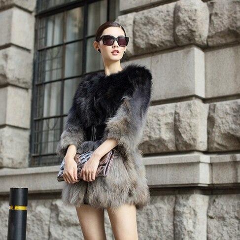 Mode Pour Vers De Veste Bas Moyen Le 2018 Épaissir Fourrure Femelle Chaud Vêtements Outwear D'hiver Raton Naturel Long Grey Color Manteau Nouveau Femmes Black Laveur OZikTlPwXu