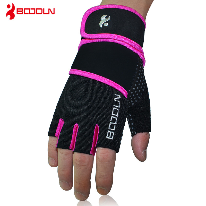 <font><b>Fitness</b></font> Handschuhe Frauen Gym Crossfit Bodybuilding Workout Wrist Wrap Sport Handschuhe für horizontale bar Training Hantel Barbell image