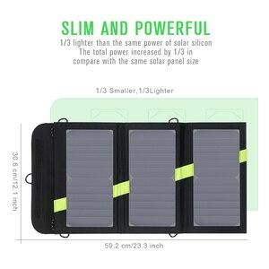 Image 3 - 20W 5V güneş enerjili telefon şarj cihazı çift USB çıkışı taşınabilir GÜNEŞ PANELI iPhone Samsung Xiaomi Huawei için akıllı telefonlar