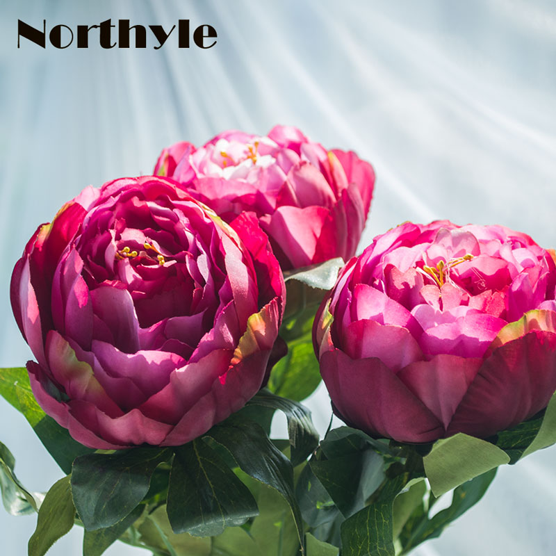 2pcslot artificial peony flower wedding artificial silk flower 2pcslot artificial peony flower wedding artificial silk flower real touch fake peony home decoration accessories mightylinksfo