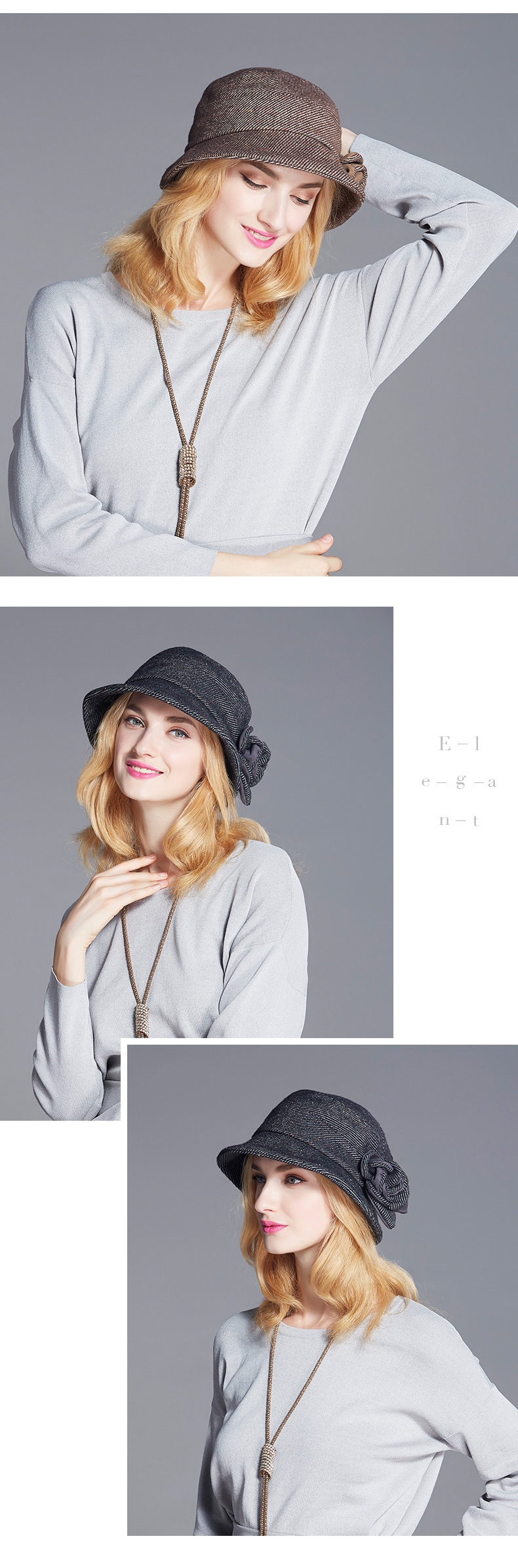 Item 2018 New Women European American Style Rose Flower Color Collision  Bucket Hats Female Elegant Fashion Dome Small Fedoras Hats d1b3376f6b75