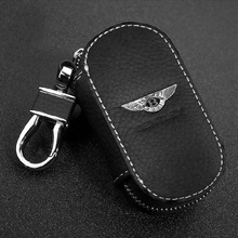 New Arrival Men's Genuine Genuine Leather Bag Car Key Case Cover Wallets Fashion Women Housekeeper Holders Carteira For Bentley
