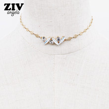 2017 new crystal opal necklace & pendant women gifts hollow chain wholesale fashion charm jewelry hot