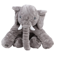 Large Plush Elephant Toy Sleeping Back Cushion Elephant Doll Baby Doll Birthday Gift Holiday Gift