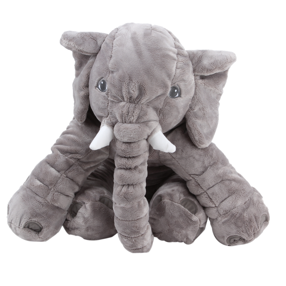 Large Plush Elephant Toy Plush Soft Toy Stuffed Animal Elephant Pillow For Baby & Kids Sleeping Toys For Child Baby Calm Doll large plush elephant toy plush soft toy stuffed animal elephant pillow for baby