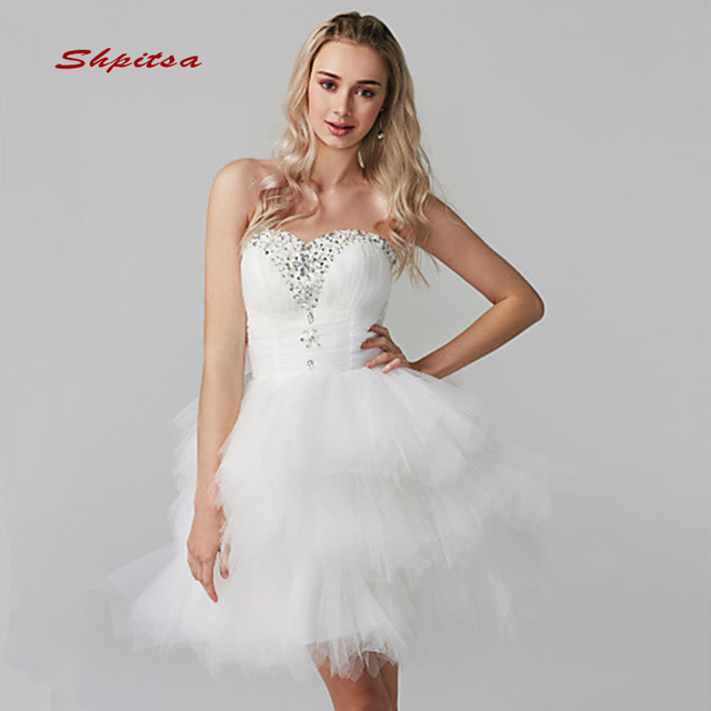 White Short Homecoming Dresses Sweetheart Women Crystals Sequin Plus ...