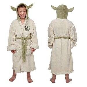 Костюм для косплея «Звездные войны», «люкасплин йода», флисовый банный халат с капюшоном для Джедаев, платье, Детская Пижама для взрослых, о...
