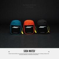 SODA WATER Phone Belt Bag Pouch Vintage Small Bag 2019 New Design PVC Patchwork Chest Bag Streetwear Men's Waist Pack 204AI2018