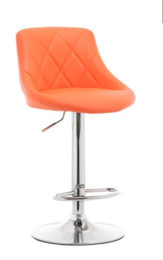 Bright Color Lifting Swivel Bar Chair Rotating Adjustable Height Pub Bar Reception Stool Simple Design 24 Colors Optional