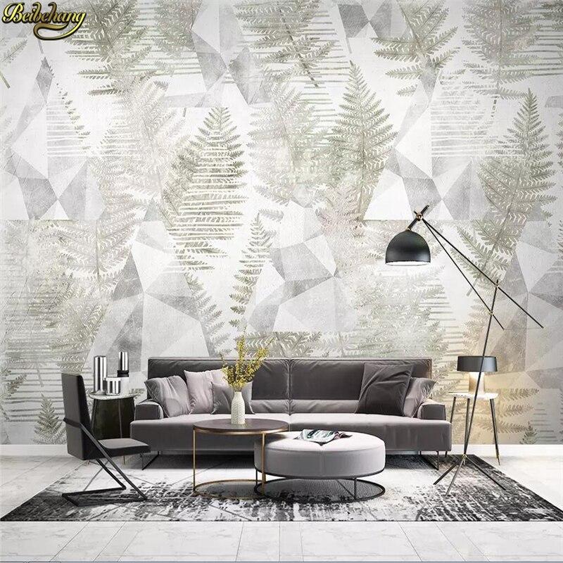 Beibehang Custom Wallpaper Mural Nordic Tropical Plants
