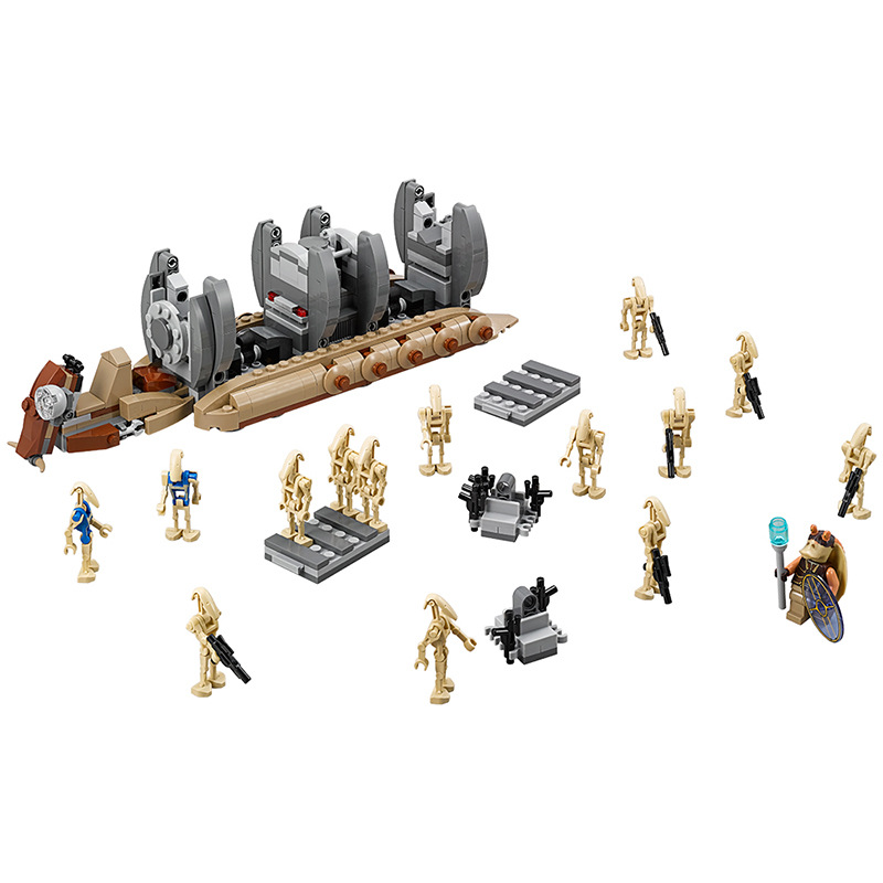 565pcs Battle Droid Troop Carrier Star wars Building Blocks DIY Model Gift Toy For Children Compatible Legoingly starwars bela 10374 star wars 7 battle droid troop carrier 565pcs building block educational toys for children compatible legoe