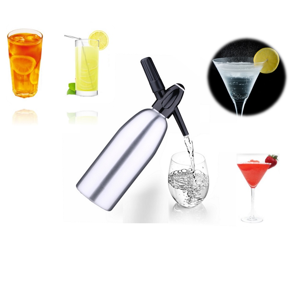 buy 1l co2 soda siphon new bar tools soda maker sodastream cool drink soda dispenser charger cracker whipper na2co3 syphon keeper from - Soda Maker