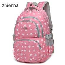 ZHIERNA school backpack for teenage girls children school bags kids baby bags orthopedic backpack Laptop Travel