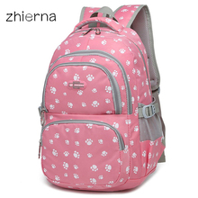 ZHIERNA school backpack for teenage girls children school bags kids baby bags orthopedic backpack Laptop Travel Bags for Teenage