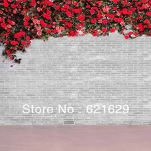 Beautiful flowers 8'x8′ CP Computer-painted Scenic Photography Background Photo Studio Backdrop HY-CM-2853