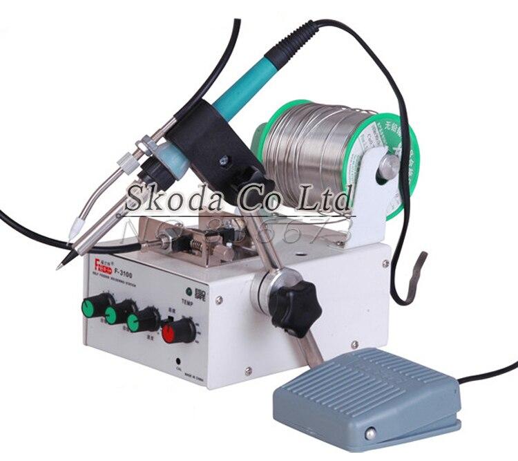 65W F3100B Foot switch send tin soldering machine soldering,Automatic tin feeding machine constant temperature soldering iron цены
