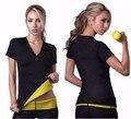2016 Hot New shapers mulheres Neoprene camisetas Shaper stretchy sudorese emagrecimento camisa do exercício Shaper do corpo das mulheres