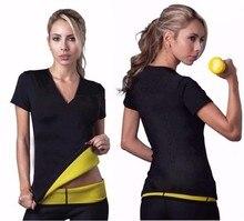 2016 Hot New shapers women Neoprene T Shirts shaper stretchy Sweating slimming shirt Workout Women Body