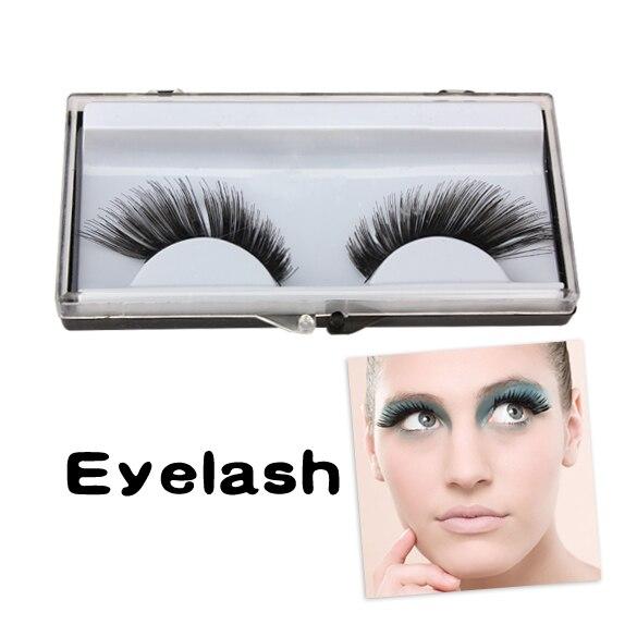 New Natural Fake Black Long False Eyelashes Beauty Party 1 Pairs Eye