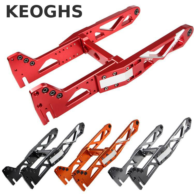 Keoghs Motorcycle Scooter Rear Swing Arm All Cnc Aluminum Personality For Yamaha Honda Kawasaki Suzuki Diy Replacement keoghs real adelin 260mm floating brake disc high quality for yamaha scooter cygnus modify