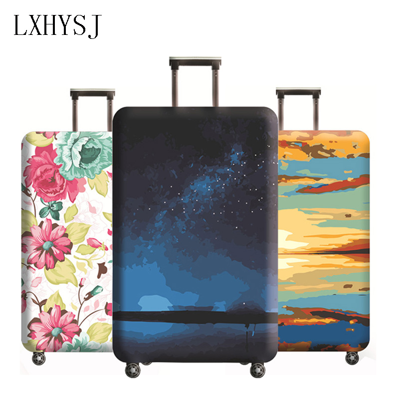 Hot Luggage Cover Elasticity Luggage Protective Covers Suitable For 18-32 Inch Suitcase Case Dust Cover Travel Accessories