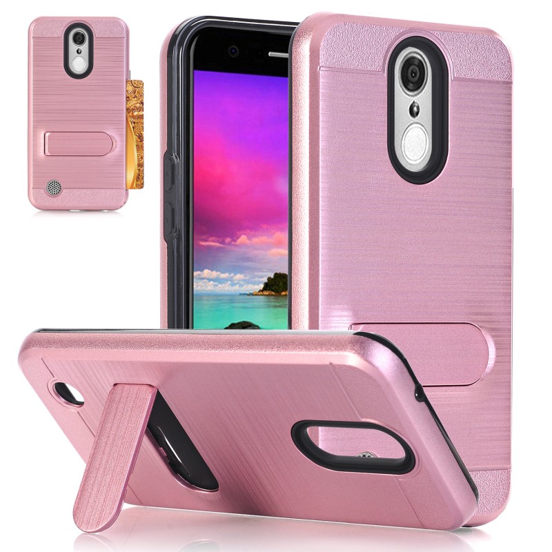For LG K20 Plus Case, K20 V , Harmony ,V5 Heavy Duty Hybrid Shockproof Armor Case With stand Kickstand Card holder Hard PC Cover