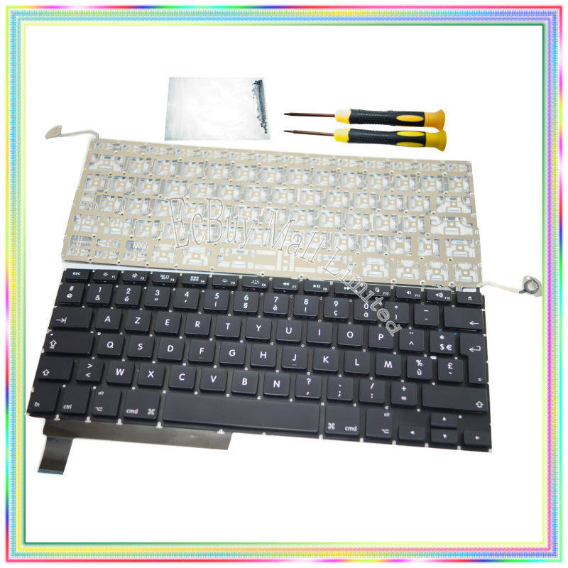 Brand new AZERTY FR French France Keyboard without Backlight & Screwdrivers keyboard screws for Macbook Pro A1286 09-13 Years