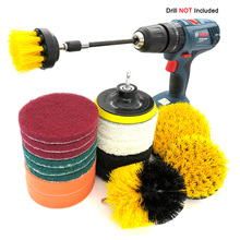 18Pcs Drill Brush Kit , Power Scrubber Clean, All Purpose For Leather Plastic Wooden Furniture Car Sofa, Kitchen, Bathroom etc