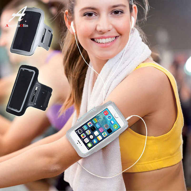 Gray Top Armbands Waterproof Gym Sports Running For iphone 5 5s 5c SE X 10 8 6 6s 7 plus 4 4s Arm Band Armband Fitness Bag Case