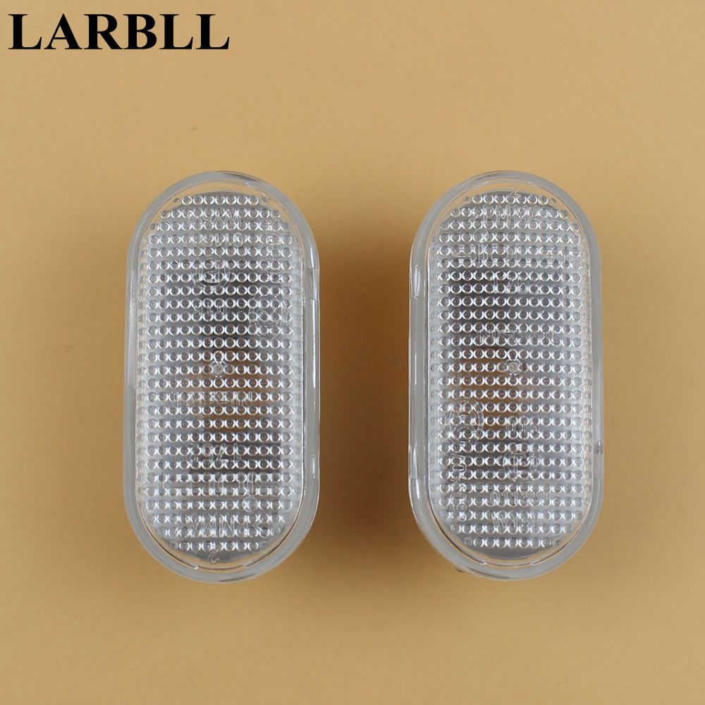 LARBLL paire de feu de position latérale Shell blanc droite = gauche convient pour NISSAN March Micra Navara 350Z Note 2002-2010