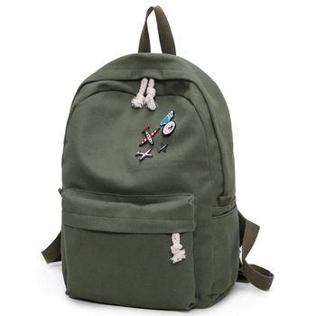 Canvas backpacks 2018 student fashion large female travel backpack for school supplies girls casual fabric shoulder bag Y213
