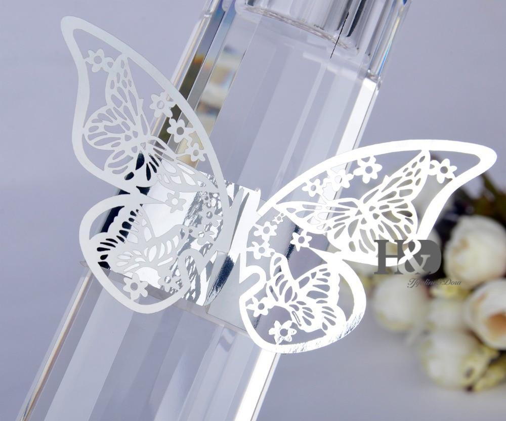 Porta Guardanapo White Butterfly Laser Cut Reflective Paper Napkin ...