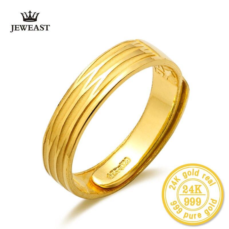 Takı ve Aksesuarları'ten Halkalar'de XXXBBB Kadınlar Takı Çift Yüzük Düğün 24K Saf Altın Severler Çift Yüzük Altın Parti Moda Yüzükler Asil Hediye güzel Takı'da  Grup 1