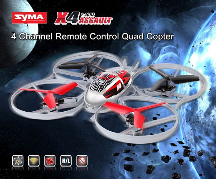 D3 Syma X4 4-Ch 2.4GHz 6-Axis Gyro RC Helicopter Quadcopter With Flash Lights Mini Remote Control Helicopter Quad Copter Toys