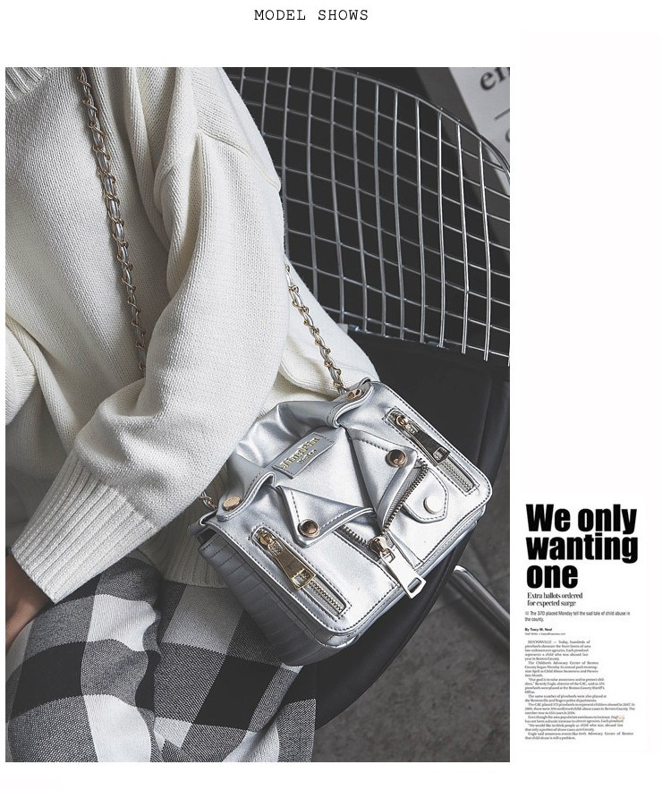 Promotion!Free Ship Hot Brand Designer Motorcycle Bags Women Clothing Shoulder Jacket Bags Messenger Bag Women Leather Handbags (4)
