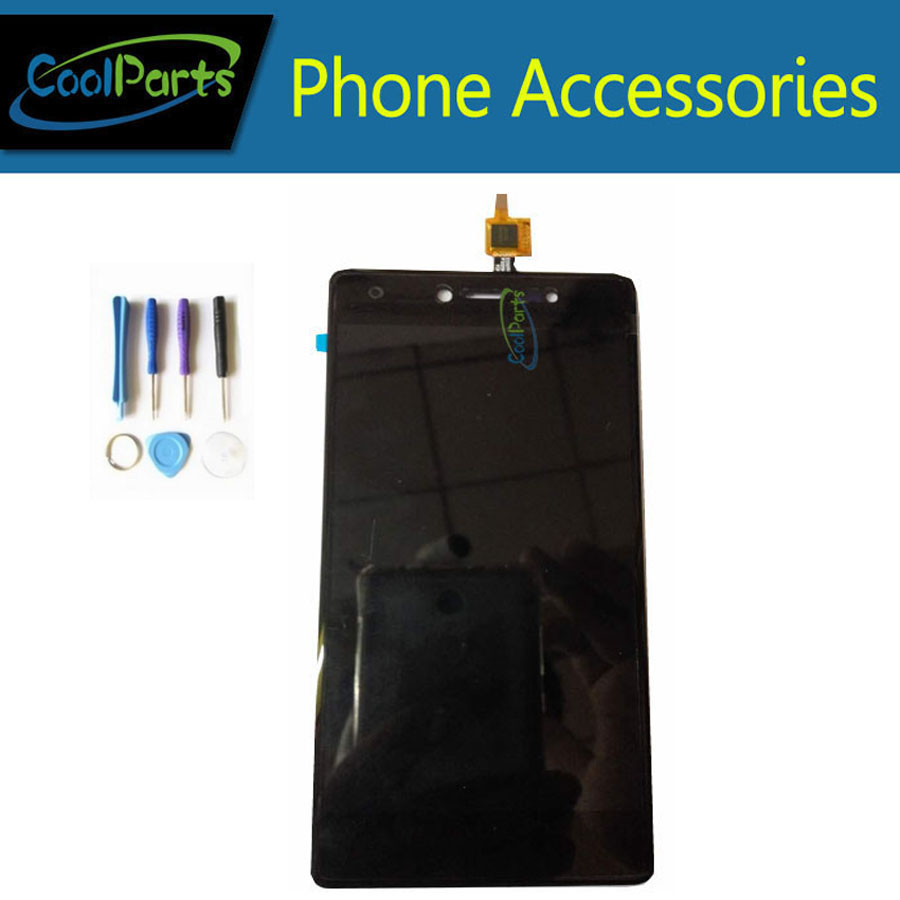 1PC/Lot High Quality For Wiko Fever 4G LCD Display And Touch Digitizer Assembly Replacement Part With Tools Black White Color