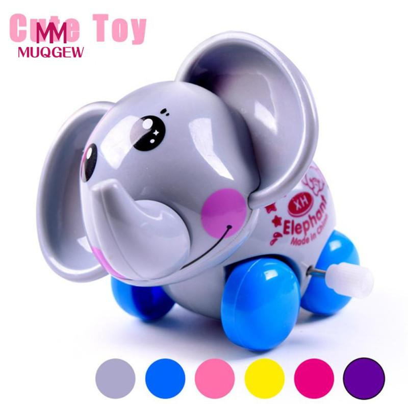 MUQGEW Funny Toy Wind Up Cartoon Jumping Elephant Clockwork Car Educational Toys Gift kids toys juguetes brinquedo menino