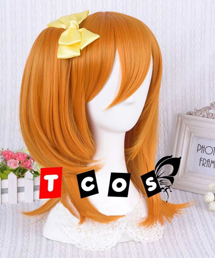 Lovelive Kousaka Honoka Short Orange Lolita Halloween Party Cosplay Wigs Costume