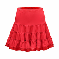 Height Quality Latin Dancing Skirt For Ladies Red Black Purple Silk Satin Skirt Women Roupas De Ballet Infantil Fashions 10396