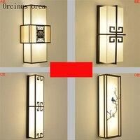 Новые китайские антикварные настенные лампа отель гостиной проход спальня ночники китайский стиль творческой Классическая площадь бра