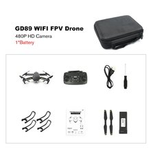 GD89 WIFI FPV Foldable Arm RC Drone with 480P/1080P HD Camera 15 Minutes Flight Time Alitute Hold Mode Aircraft VS E58 MAVIC 2