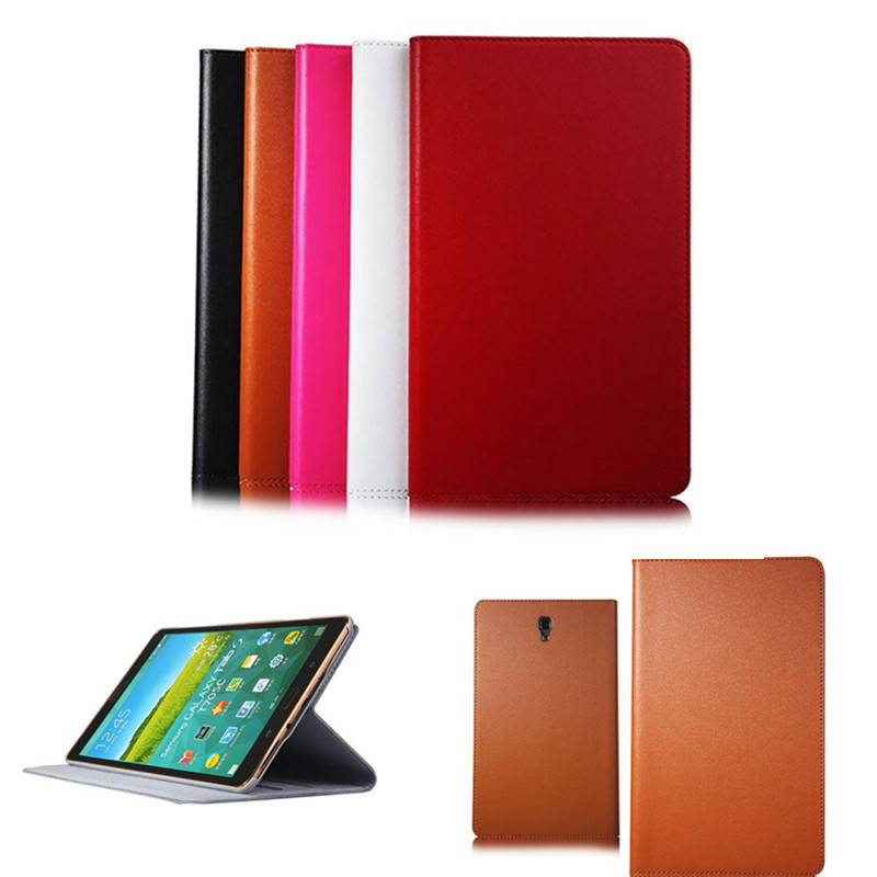 Tab S 8.4'' Ultra Thin Folio Flip Genuine Leather Stand Smart Cover Case For Samsung Galaxy Tab S 8.4 inch T700 T705 T705C ultra thin folio pu leather stand smart case for cover samsung galaxy tab 4 10 1 t530w screen protector stylus pen free shipping