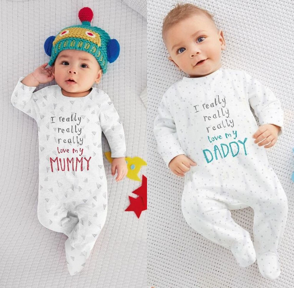 hot newborn baby boy girl i love mum dad cotton autumn long sleeve