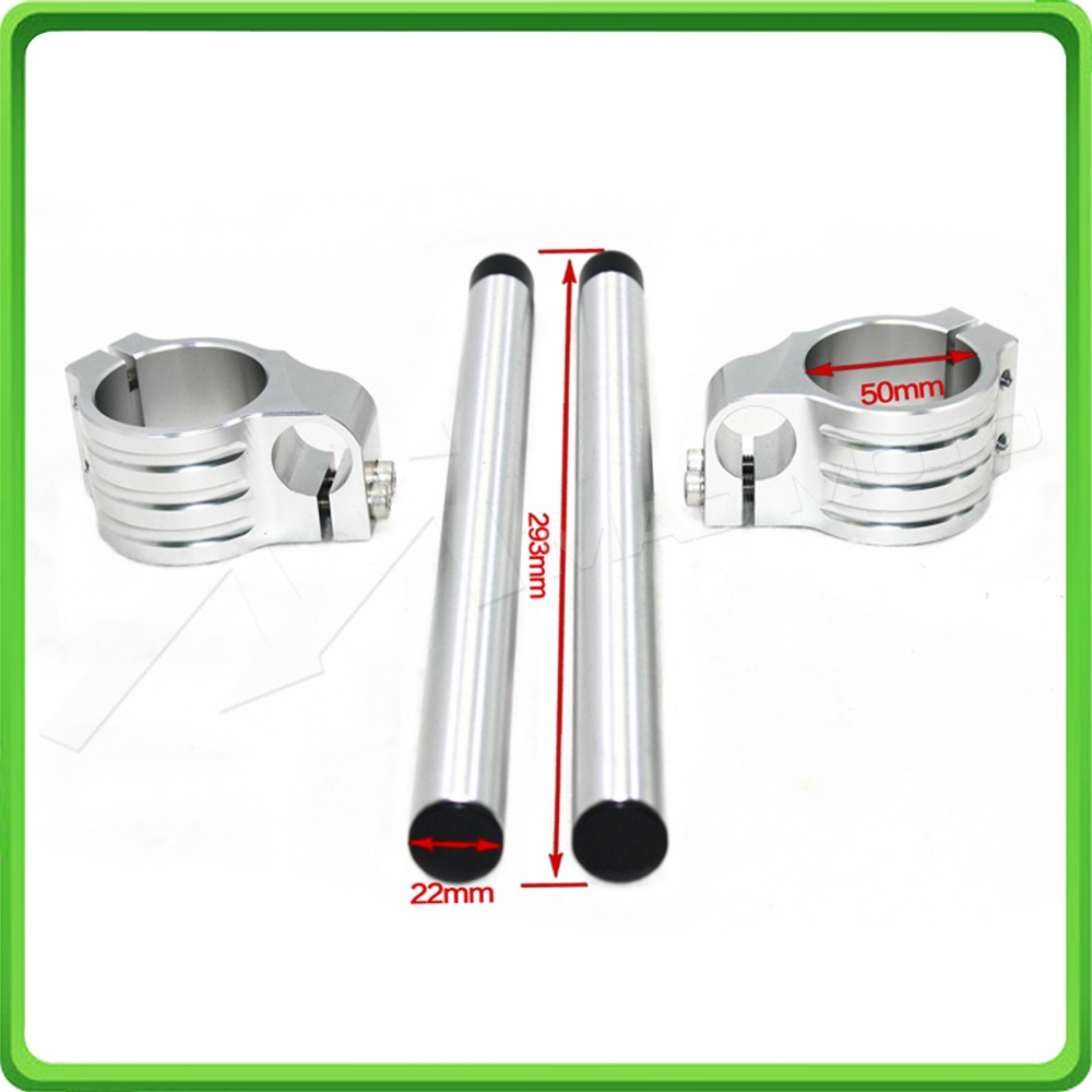 50MM Silver Motorcycle Fork Clip-ons and handlebar tubes For APRILIA RSV 1000  Factory 2006 2007 2008 2009 Clip-on handle bars (7)