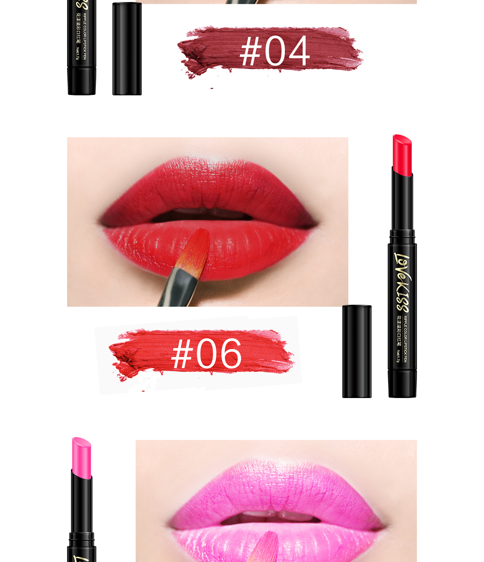 Nude Sexy Lipstick red Lipgloss Long lasting Pigment Matte Lipstick Women Fashion Makeup Cosmetic Valentine's GIFT private label 6