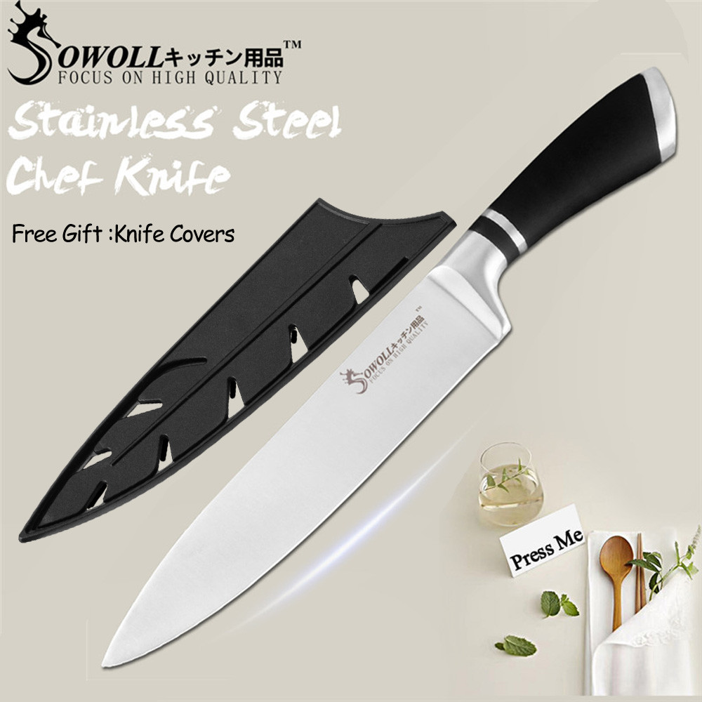 SOWOLL Knife Kitchen Chef Stainless-Steel Cutlery-Accessories Pom-Handle 8inch Gift High-End