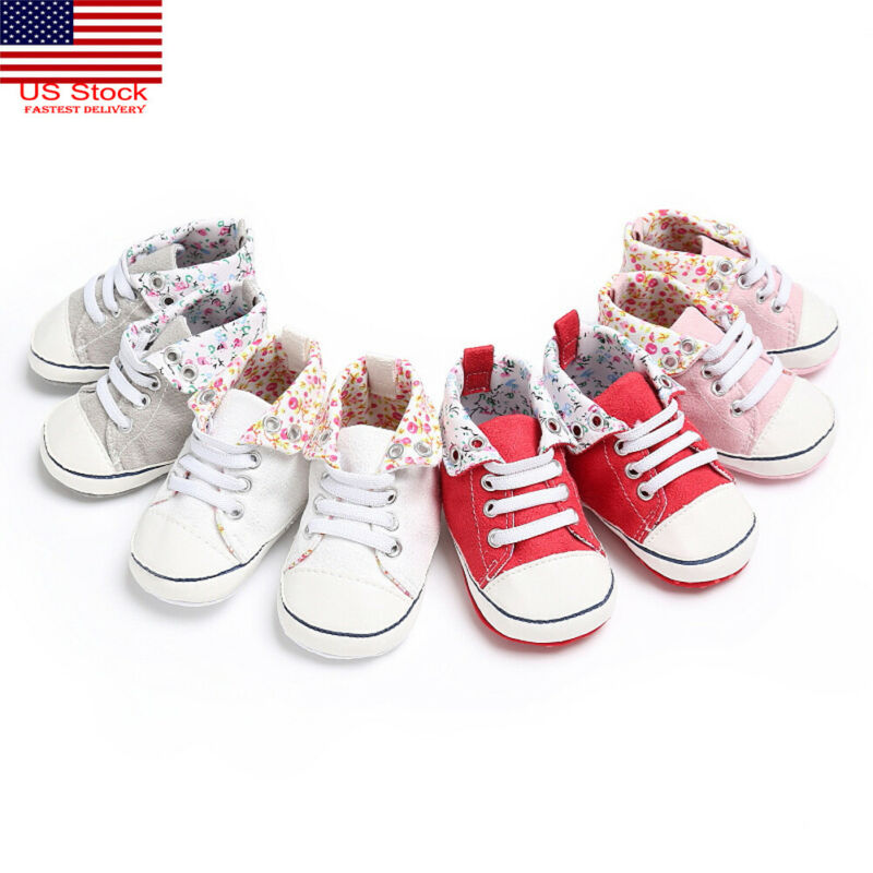 2019 Brand Newborn First Walker Shoes Infant Baby Toddler Girl Crib Shoes Pram Soft Prewalker Anti-slip Sneakers