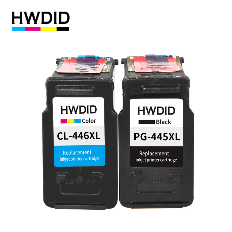 HWDID pg445 cl446 החלפת מחסניות דיו עבור Canon pg-445 cl-446 PG 445 עבור Canon PIXMA MX494 MG 2440 2540 2940 MX494 IP2840