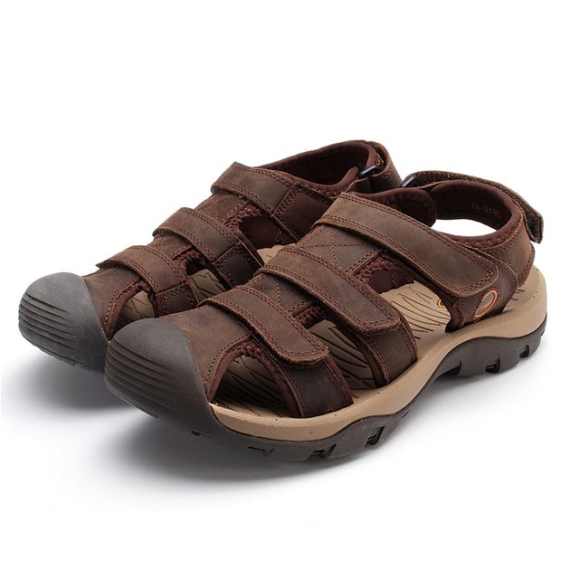 31mens Platform In Cowhide Leather Outdoor Men Men's Walking Male Genuine Beach Sandals Sandal Soft Breathable Us56 Casual Summer XuTlOkZiwP
