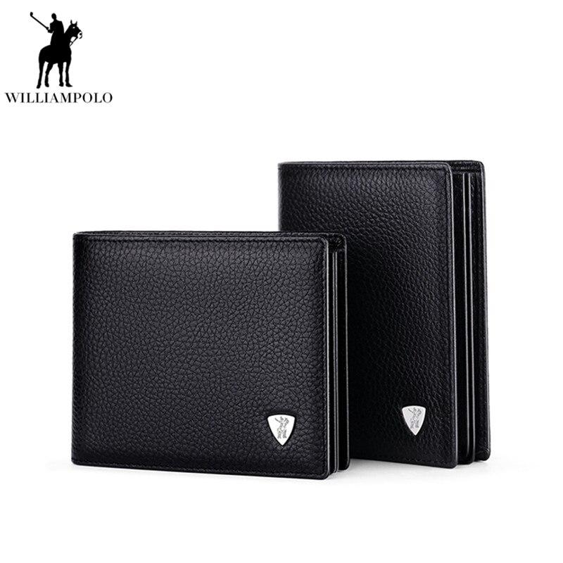 Nový příjezd WILLIAMPOLO 100% kožené originální značky Casual - Peněženky